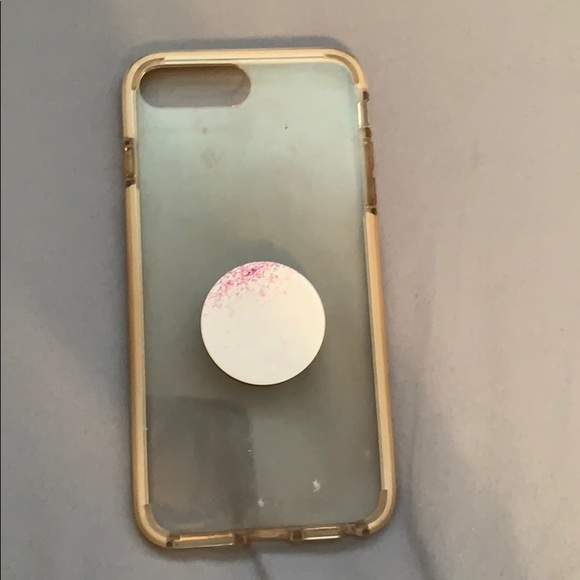 huge discount b7e5a 0b096 Clear Case with popsocket